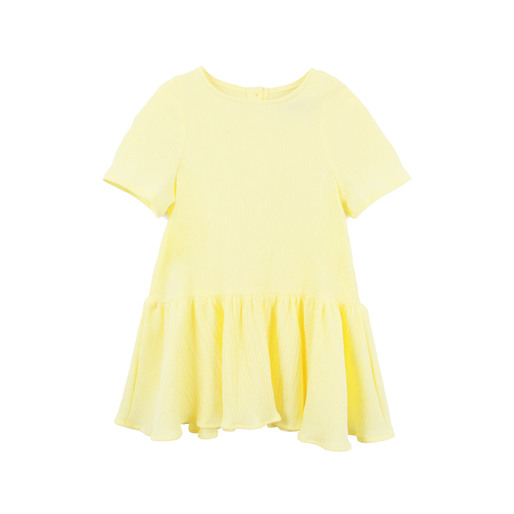 Short sleeve one-piece - Yellow (2차입고, 당일발송)