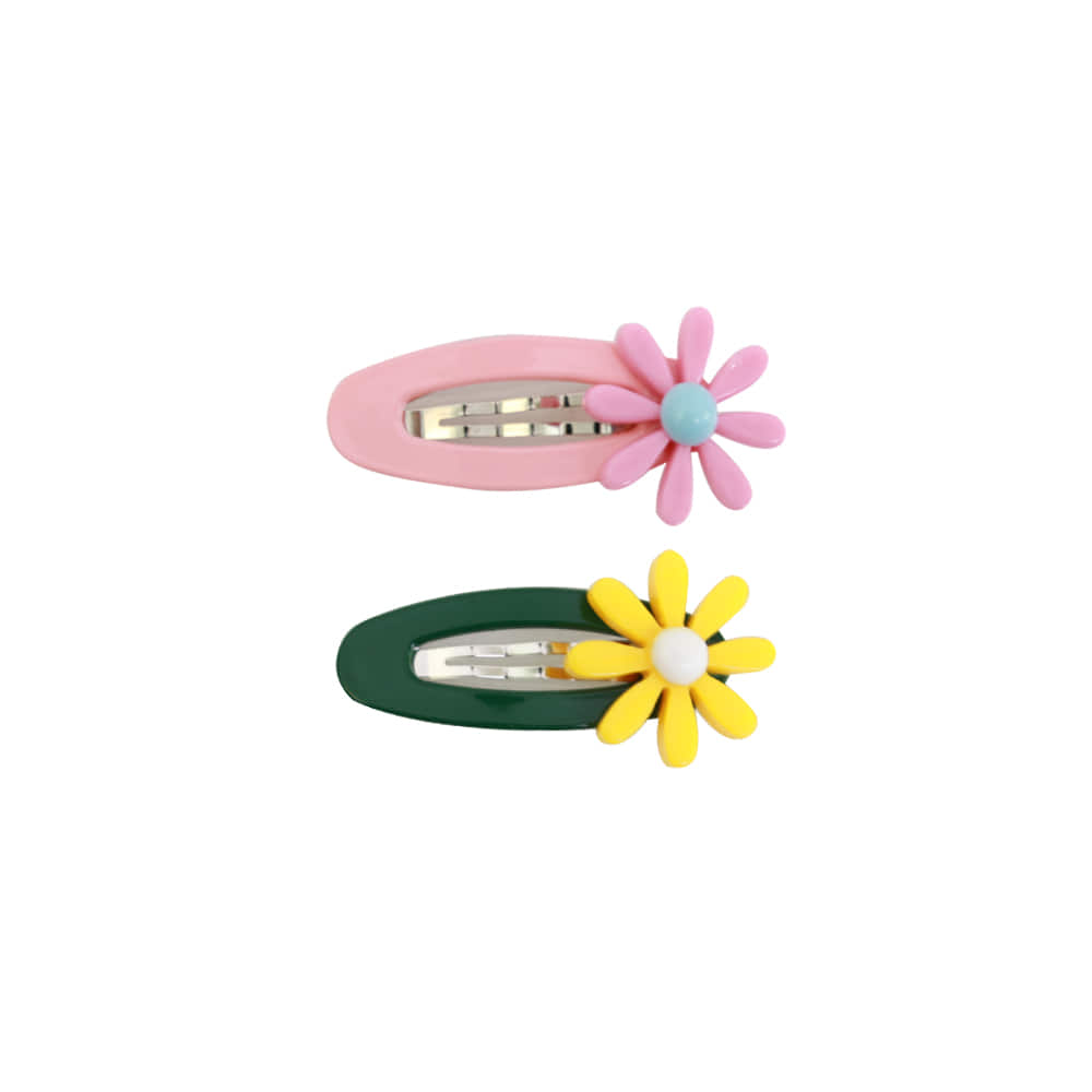 Daisy pin - pink,yellow