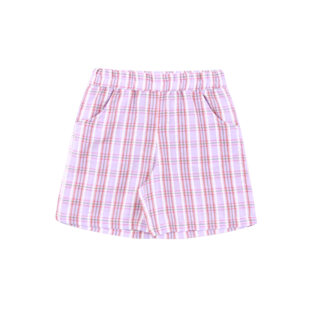 20 summer check pants - purple (2차 입고, 당일발송)