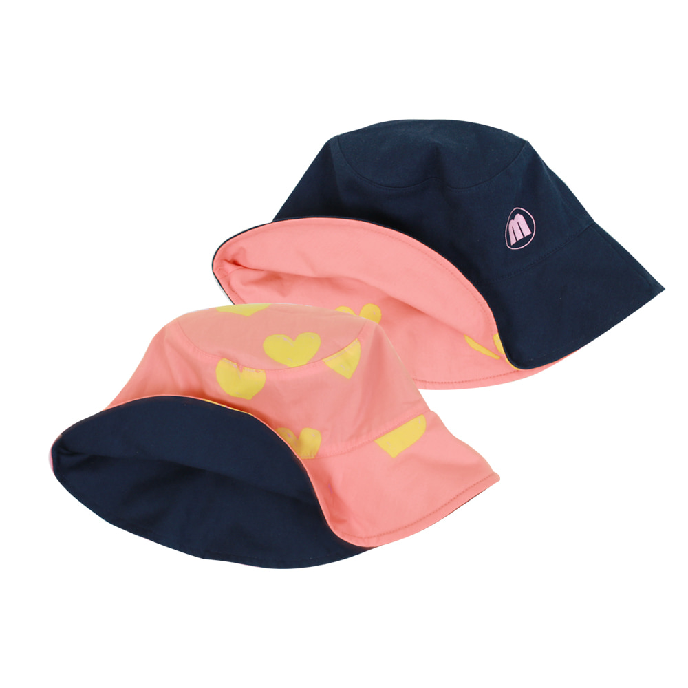 Heart reversible bucket hat (2차 입고, 당일발송)