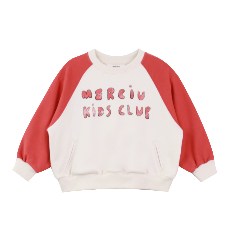 Merciu kids club sweatshirt - red (2차 입고, 당일발송)