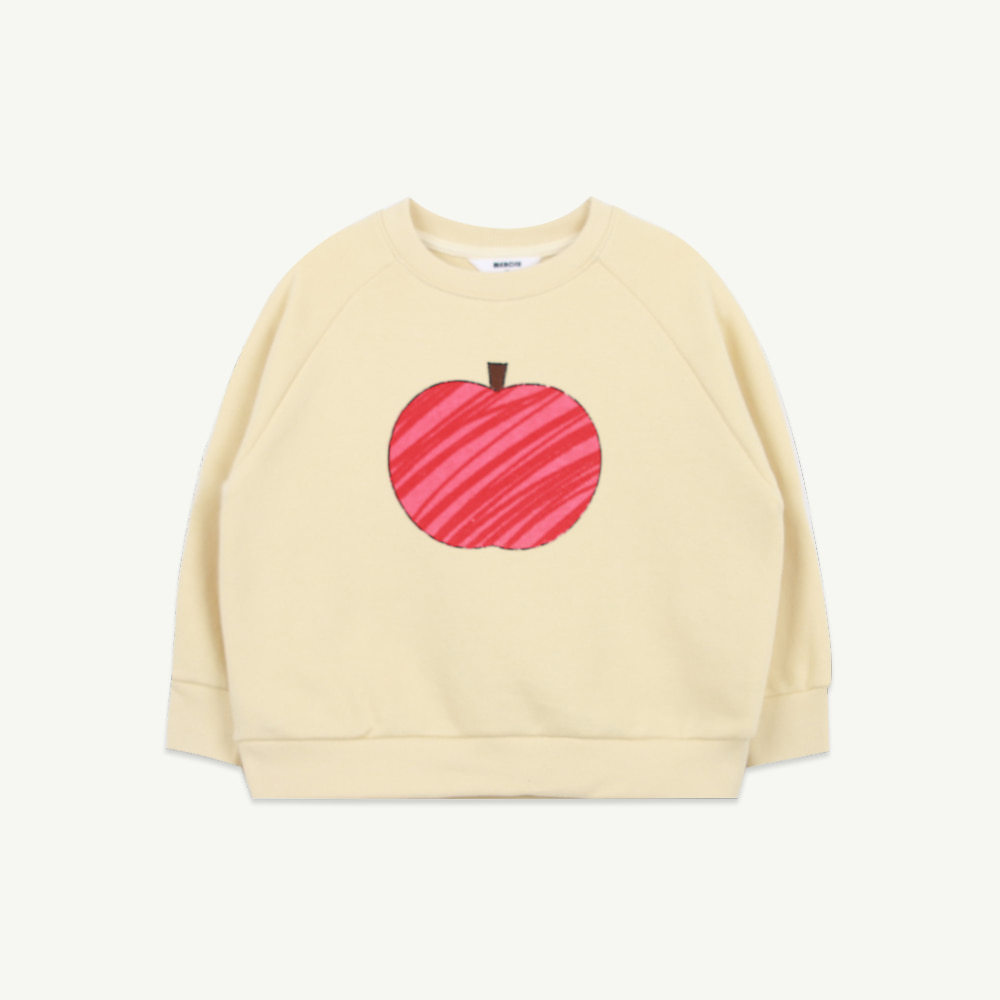 21 S/S Apple sweatshirt - yellow (5차 입고, 당일 발송)