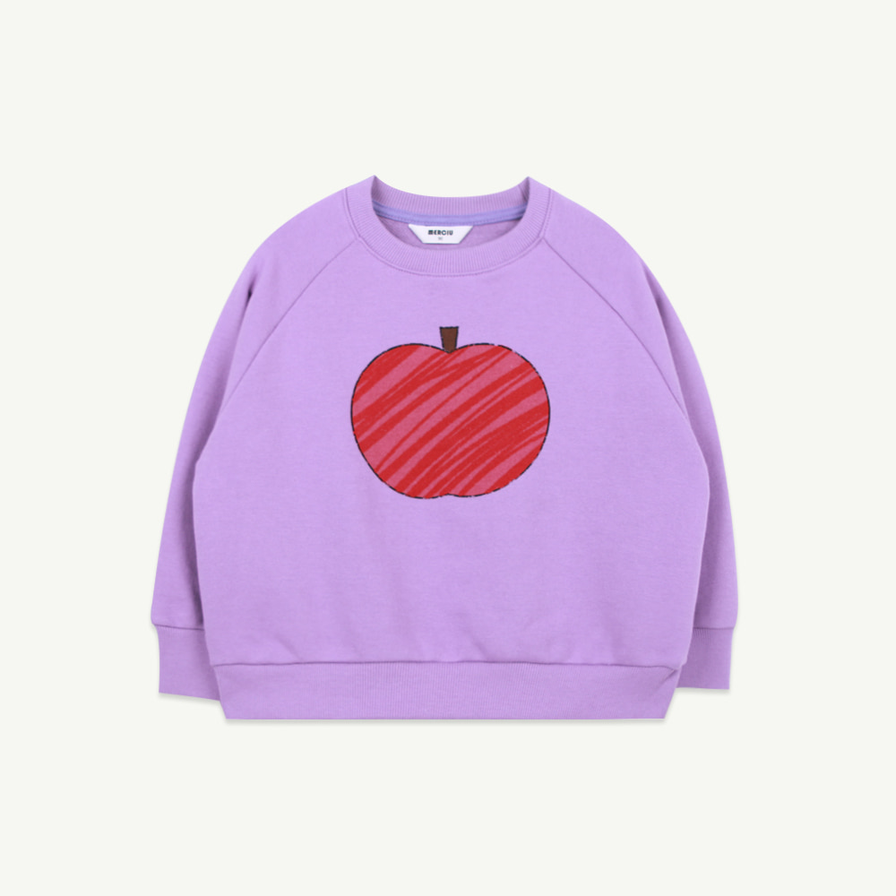 21 S/S Apple sweatshirt - purple (5차 입고, 당일 발송)