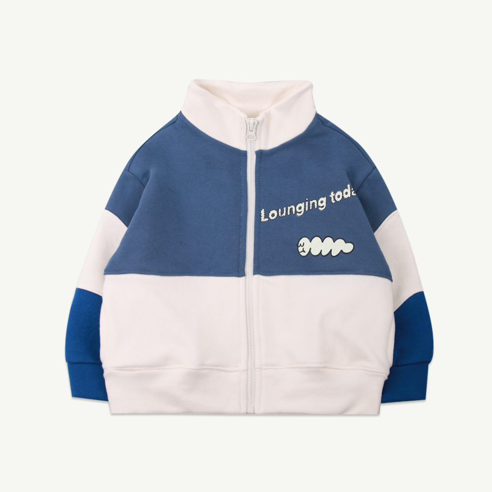 21 S/S Coloring zip up - blue (프리오더)