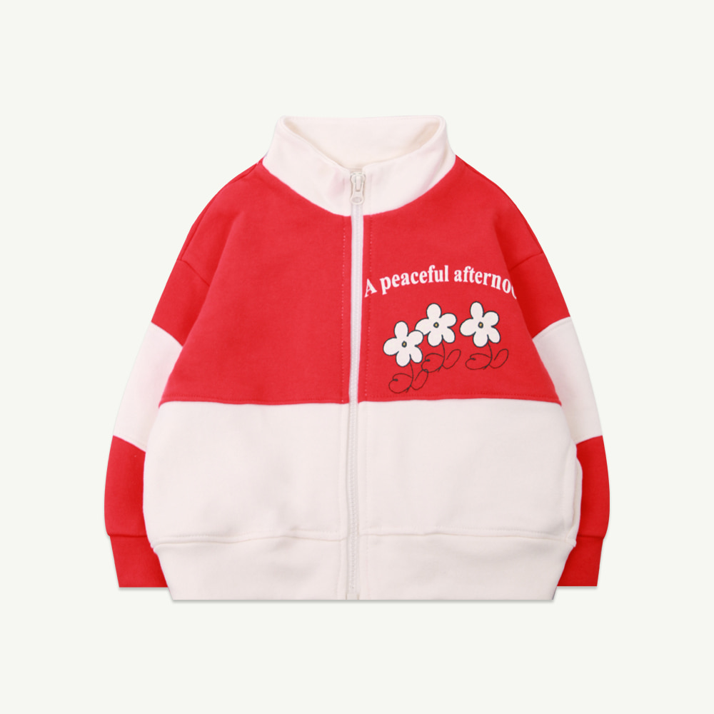 21 S/S Coloring zip up - red (프리오더)