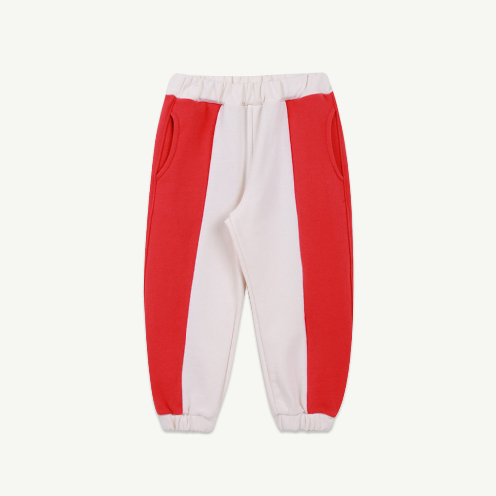21 S/S Coloring jogger pants - red (2차 입고, 당일발송)