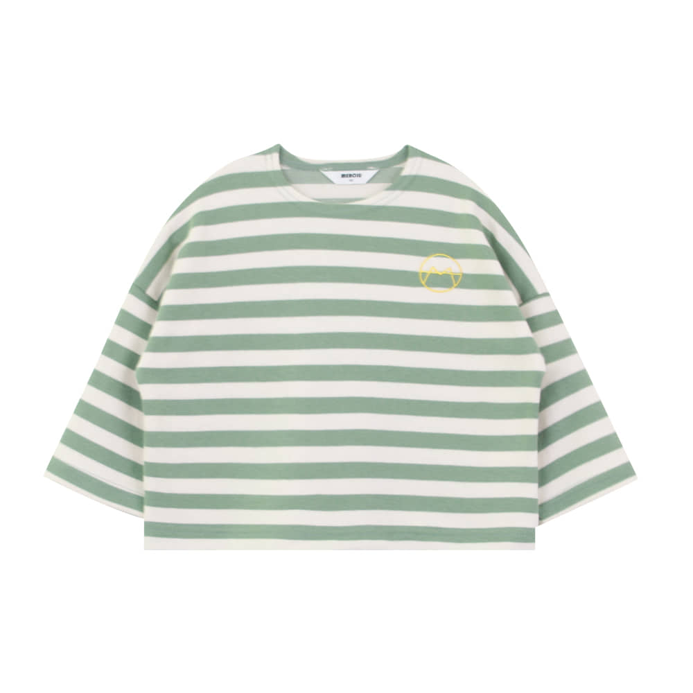 20 F/W Basic stripe t-shirt - green (4차 입고, 당일발송)