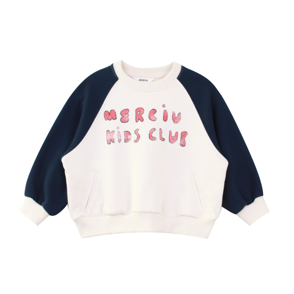 Merciu kids club sweatshirt - navy (2차 입고, 당일발송)