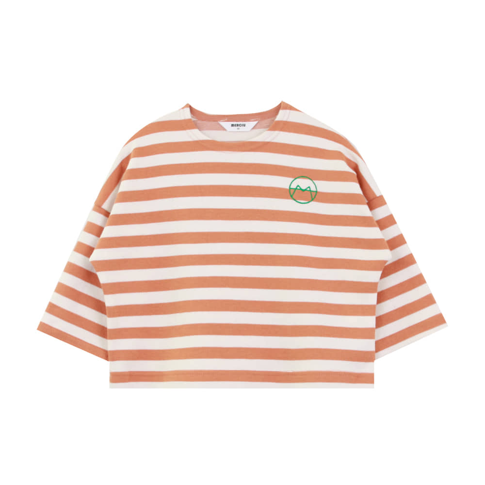 20 F/W Basic stripe t-shirt - orange (4차 입고, 당일발송)
