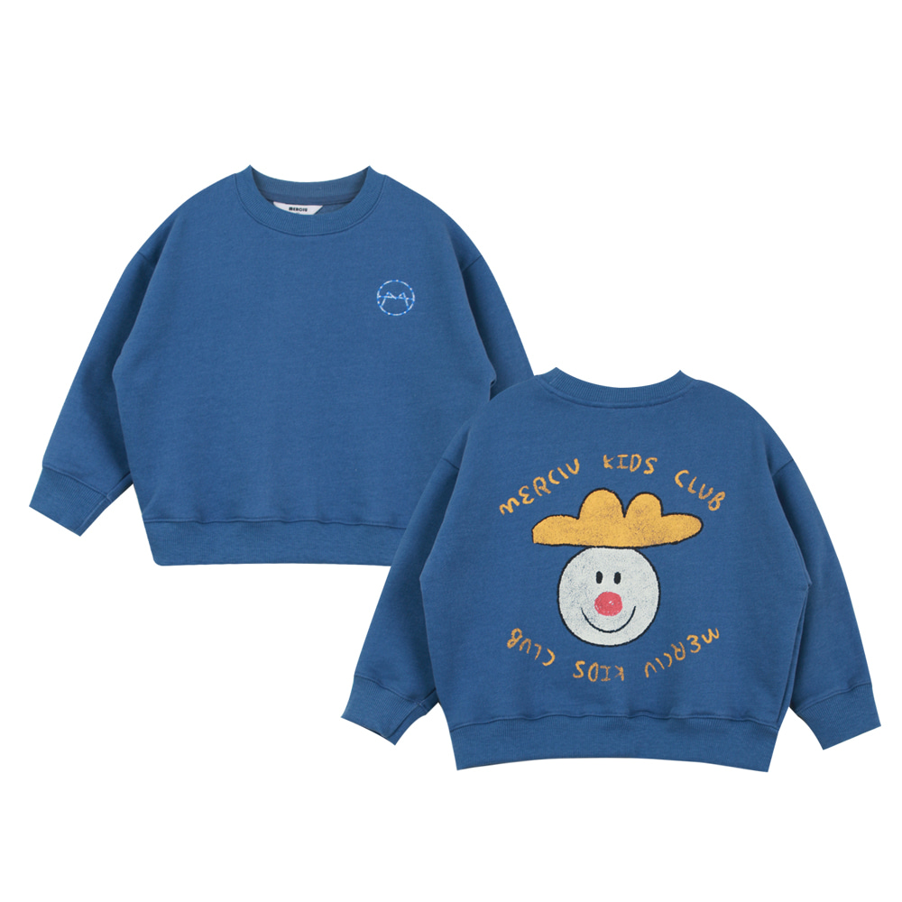 Merciu vintage washing sweatshirt - blue (3차 입고, 당일발송)