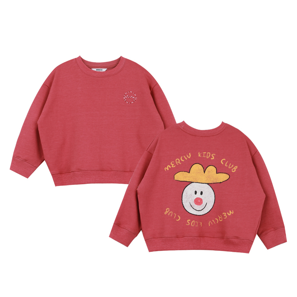 Merciu vintage washing sweatshirt - red (프리오더)