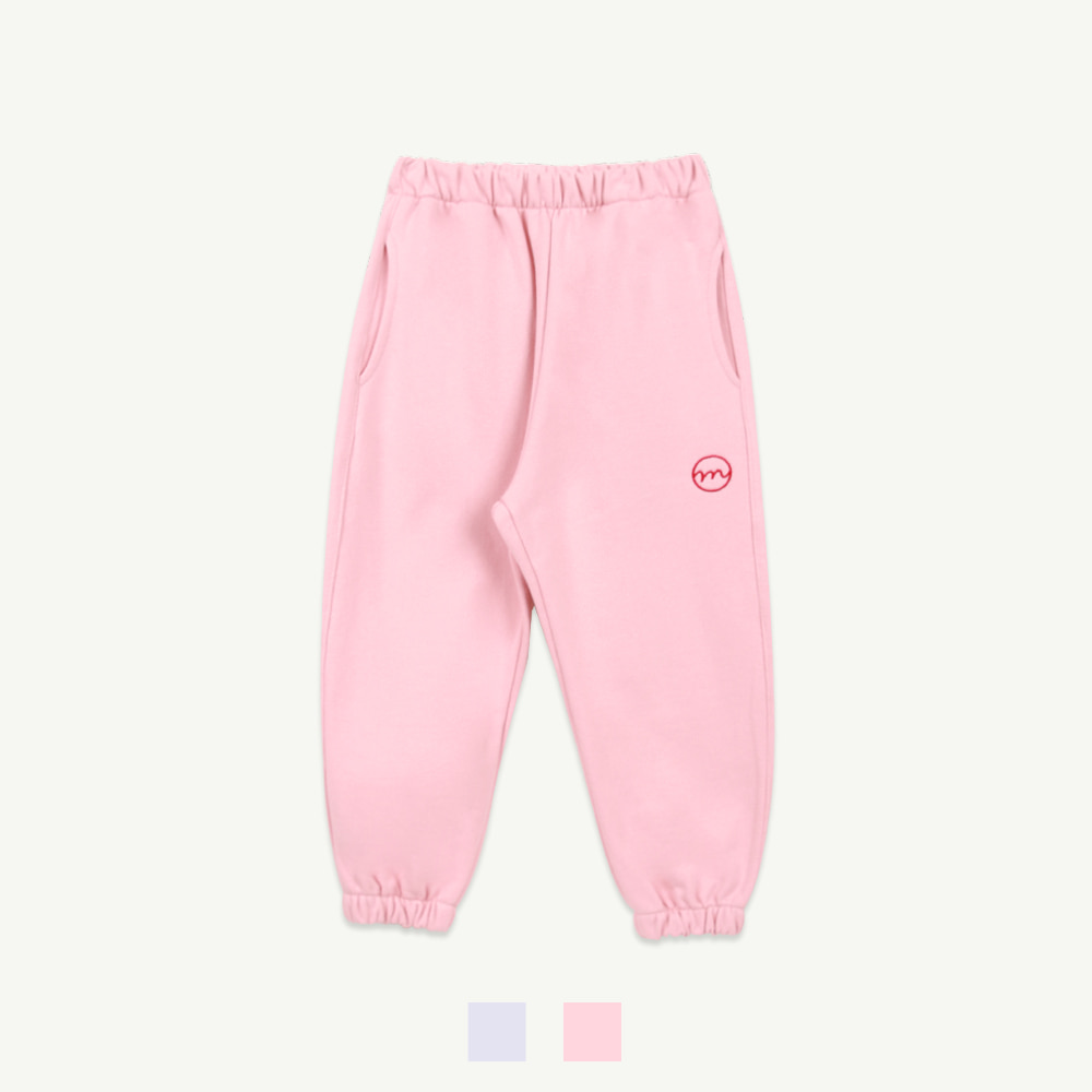 M embroidery jogger pants - pink,gray (5차 입고, 당일 발송)