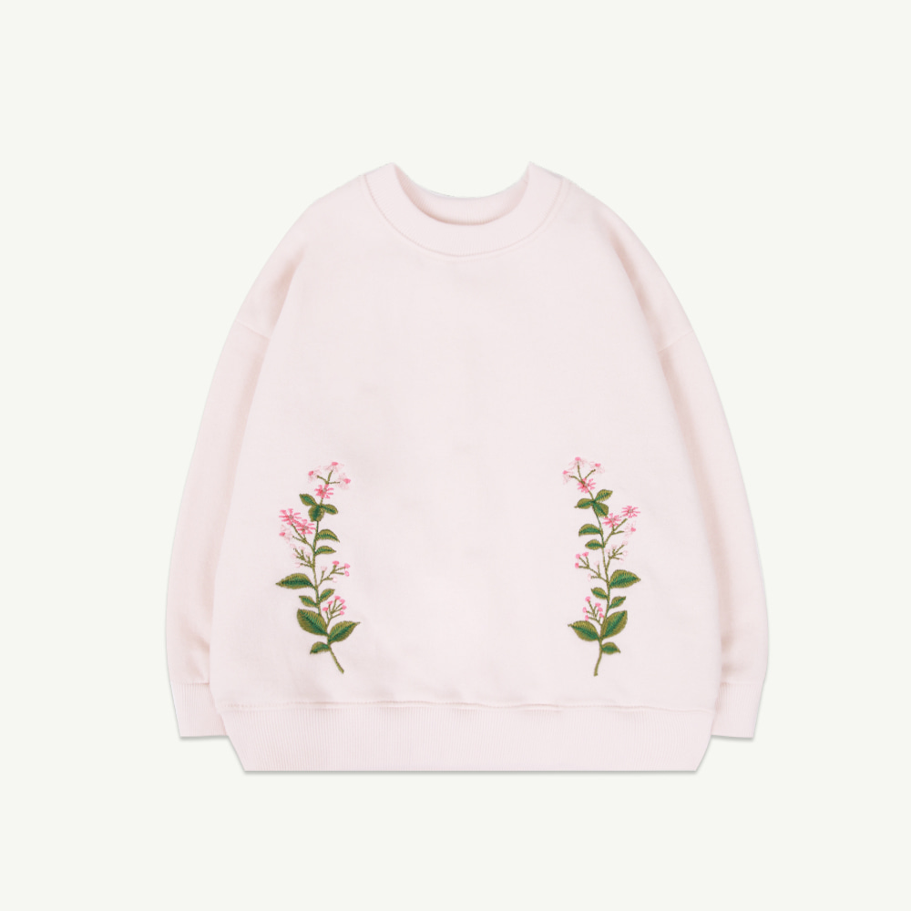 Flower embroidery sweatshirt( 당일 발송 )